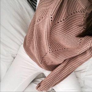NWOT Aritzia Wilfred Serment Sweater in Blush 🌸